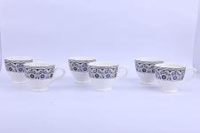 Anwaliya Floral Tea Cups – 6 Pieces