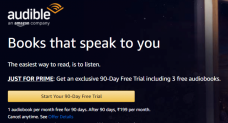 Amazon Audible 90 Days Free Trial + 3 Free AudioBooks