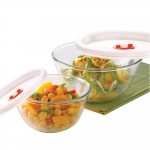 Basics Glass Mixing Bowl with lid – Set of 2