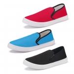 Bersache Men's Multicolor Combo Pack of 3 Casual Sneaker