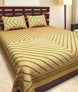 Best Price JAIPUR PRINTS Bedsheet for Double Bedsheet with 2 Pillow Covers only 598 MRP 1999