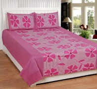 Choice homes Cotton King Size Double Bedsheet with 2 Pillow Cover