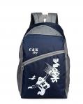 Chris & Kate Polyester 30 LTR Blue School Backpack