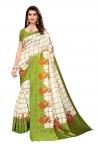 Clothzy Women's Art Silk Saree With Blouse Piece