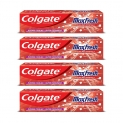 Colgate Maxfresh Spicy Fresh Red Gel Toothpaste, 150g (Pack of 4)