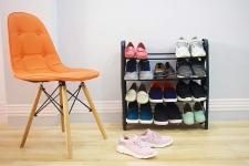 Ebee Plastic 4 Tier Shoe Rack