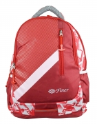 Finer Multipurpose Polyester Red Backpack