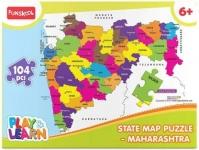 Funskool State Map Puzzle Maharashtra  (104 Pieces)