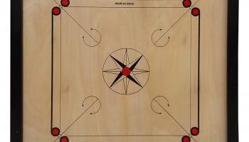 Gencliq Wooden Carrom Board, 26×26 Inches