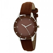 Generic Analog Brown Dial Watch for Girls