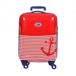 Genie Polycarbonate 55 cms Red Hard Sided Carry-On