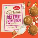 Haldiram's Mithas Besan Ladoo – Dry Fruit, 400 g