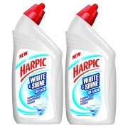 Harpic 'White & Shine Bleach' Disinfectant Toilet Cleaner, Regular – 500 ml (Pack of 2)
