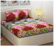 Homestar Microfiber Double Printed Bedsheet