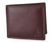 Hornbull Men's Brown Stella Genuine Leather RFID Blocking Wallet