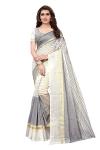 Indira Designer Women's Cotton Saree With Blouse Piece