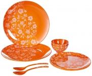 Iveo 3D Melamine Dinnerware Set, 8-Pieces