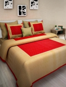 JAIPUR PRINTS Double Bedsheet with 2 Pillow Cover