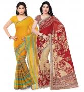 Kashvi saree Women's Saree With Blouse Piece – Pack of 2