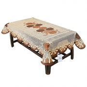 Kuber Industries Floral Cotton 4 Seater Centre Table Cover