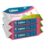 Little's Soft Cleansing Baby Wipes (80 wipes) pack of 3
