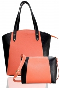 Leather Women's & Girl's Shoulder Handbag Combo