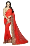Women's Georgette Saree With Blouse Piece