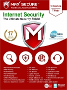 Max Secure Software Internet Security Version 6 – 1 PCs, 1 Year
