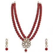 Meenaz Jewellery Gold Kundan Necklace Jewellery Sets with Earrings