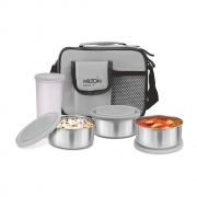 Milton Steel Combi Lunch Box with Tumbler, 4-Pieces