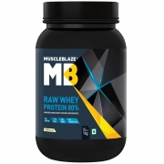 MuscleBlaze Raw Whey Protein – 2.2 lb/ 1 kg, 33 Servings