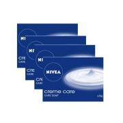 NIVEA Soap, Creme Care, 125g (Pack of 4)