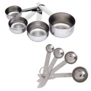 Oc9 Set of 4 Measuring Cup and 4 Measuring Spoon