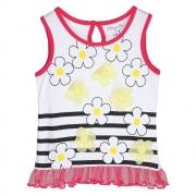 Pantaloons Baby Girls' Floral Regular Fit Polo