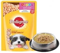 Pedigree Gravy Puppy Dog Food Chicken chunks in gravy 80 g at Rs 1
