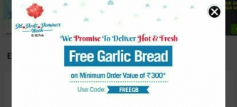 Domino's Pizza New Code – Free garlic bread on your order
