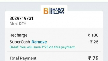 Mobikwik : Use 100% SuperCash Upto Rs.25 On DTH Recharge