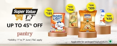 Amazon pantry loot : Upto 60% Off On Pantry Products.