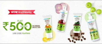 MamaEarth Wow Wednesday loot – Flat 500 Cashback order above ₹999