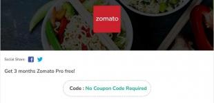 Zomato pro membership Loot Offer 2021 : Zomato Pro Free for 1 Year
