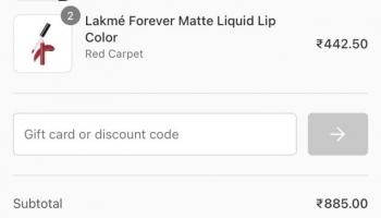 Lakmé : Buy 3 Get 1 Free + 25% Off + 20% Off Code
