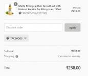 TheAyurvedaCo : Methi Bhringraj Hair Growth Oil, 150ml