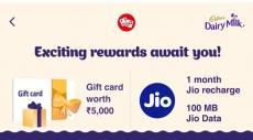 Jio New Cadbury Offer – Win Jio Free Data + Rs. 5000 Voucher