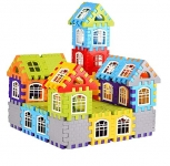 Baba Fab Multi Coloured Educational Play And Learn Plastic Building Block Set (My House)