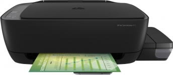 Hp Ink Tank Wl 410 Multi-Function Wifi Color Printer With Voice Activated Printing Google Assistant And Alexa(Black, Ink Tank)