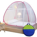 Tolofy Mosquito Net Foldable King Size/Queen Size Double Bed (Multi Color)