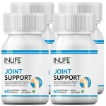 Inlife Joint Support Health Supplement With Expert Active Pain Relief, Boswellia Serrata, Guggul, Rasna And Other Ayurvedic Herbs, 500 Mg – 60 Vegetarian Capsules (Pack Of 4)