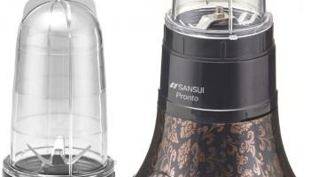 Sansui Prohome Pronto 400 W Juicer Mixer Grinder (2 Jars, Red, Black)