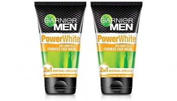 Garnier Men Power White Anti-Dark Cells Fairness Face Wash, 100G (Pack Of 2)