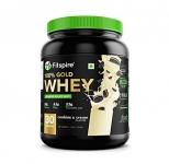 Fitspire Whey Gold Standard 100% Whey Protein Isolate   No Added Sugar   Zero Cholesterol & Gluten Free   Powder Supplement   Iso Certified – (Cookie & Cream, 1 Kg / 2.2 Lb)